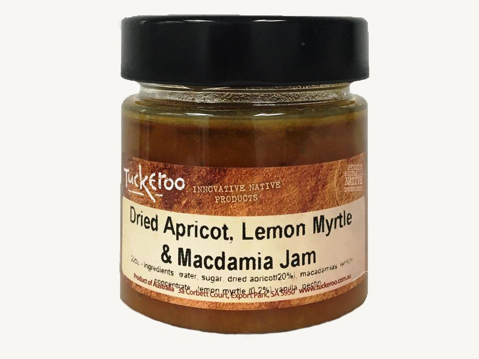 Dried Apricot, Lemon Myrtle and Macadamia Jam